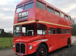 Red Routemaster for weddings in Reading